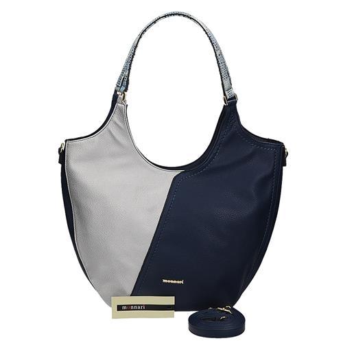 Originální stříbrno-modrá kabelka se čtyřmi kapsami uvnitř  8b4025e3429