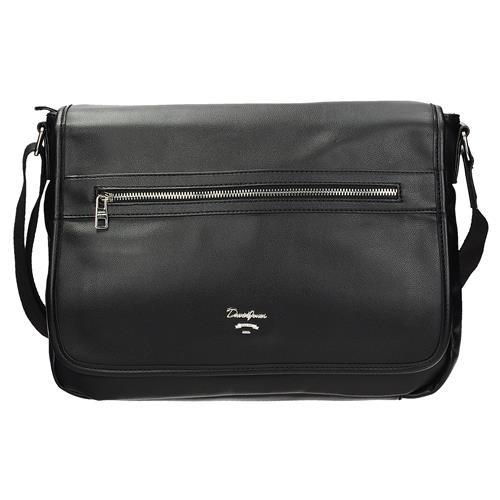 Pánská taška na laptop přes rameno v černé barvě