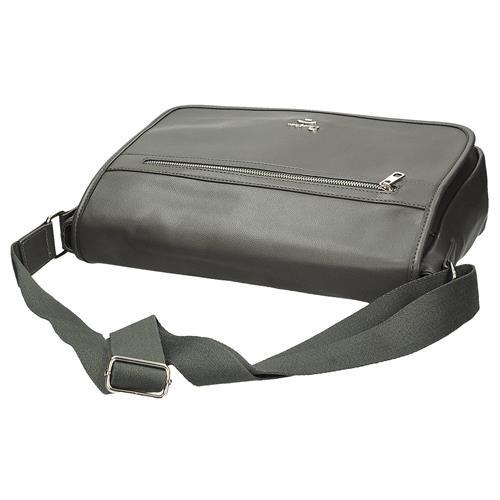 a012c62afc Pánská taška na laptop přes rameno v šedé barvě | AMIATEX.cz