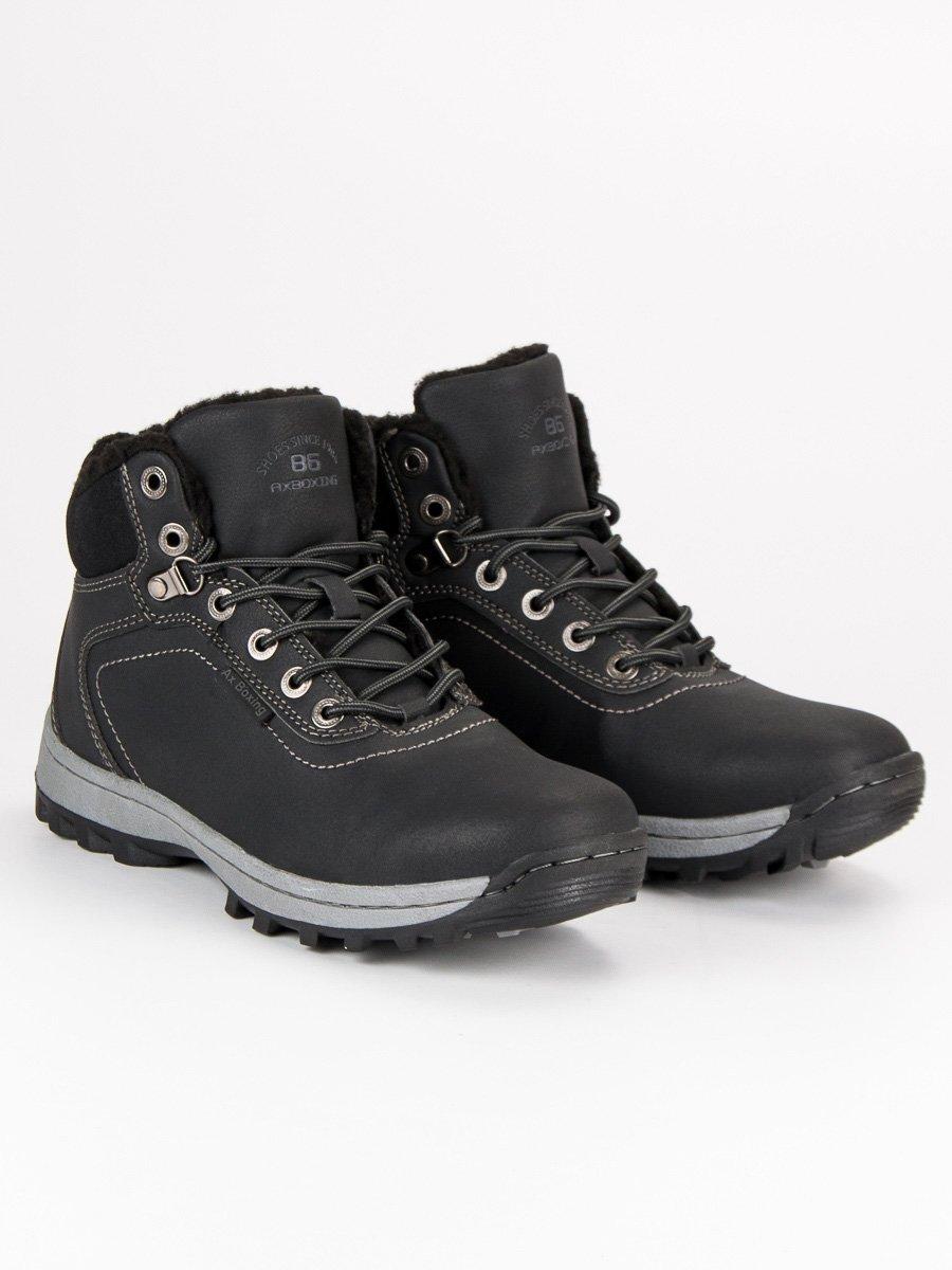 Pánské černé kotníkové boty