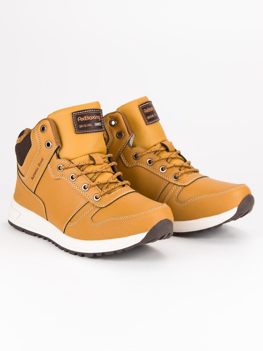 Pánské hnědé kotníkové boty