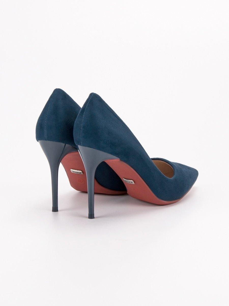 0620486d6d ... Pěkné lodičky dámské modré na jehlovém podpatku ...