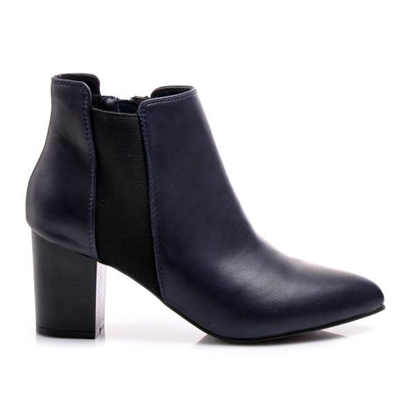 Podzimní modré kotníkové boty