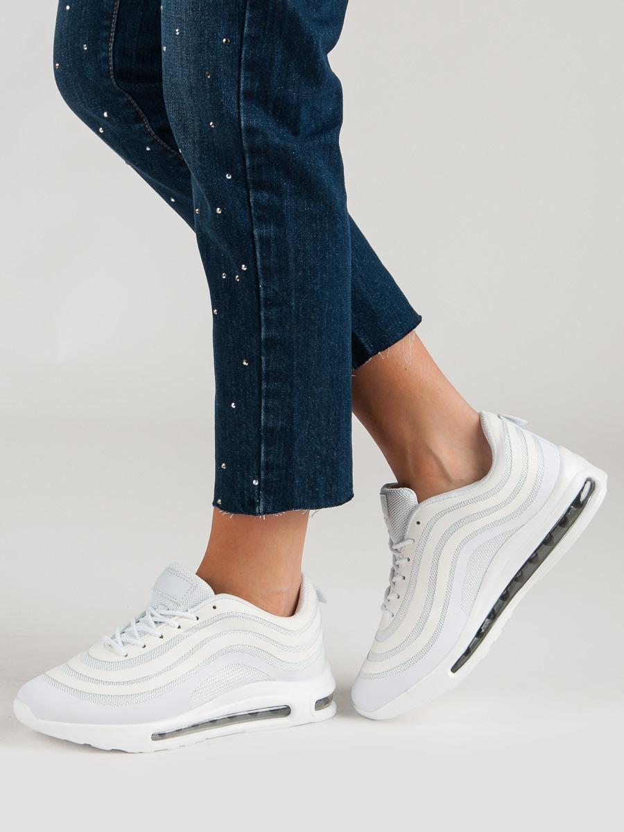 9818a0b86b Pohodlné dámské tenisky bílé bez podpatku