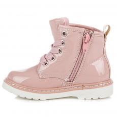 Pohodlné růžové dívčí kotníčkové boty s kytičkami 1938dccbfe