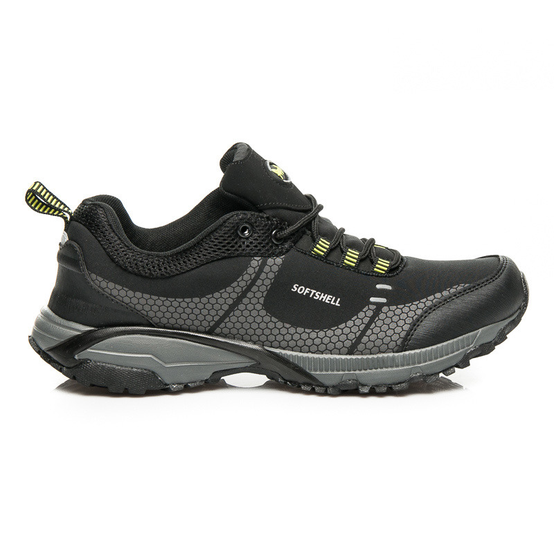 a767d9bdae7 Pohodlné sportovní černo-šedé pánské sportovní boty