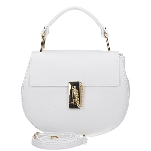 a4ead62c2154 Praktická malá bílá dámská kožená kabelka