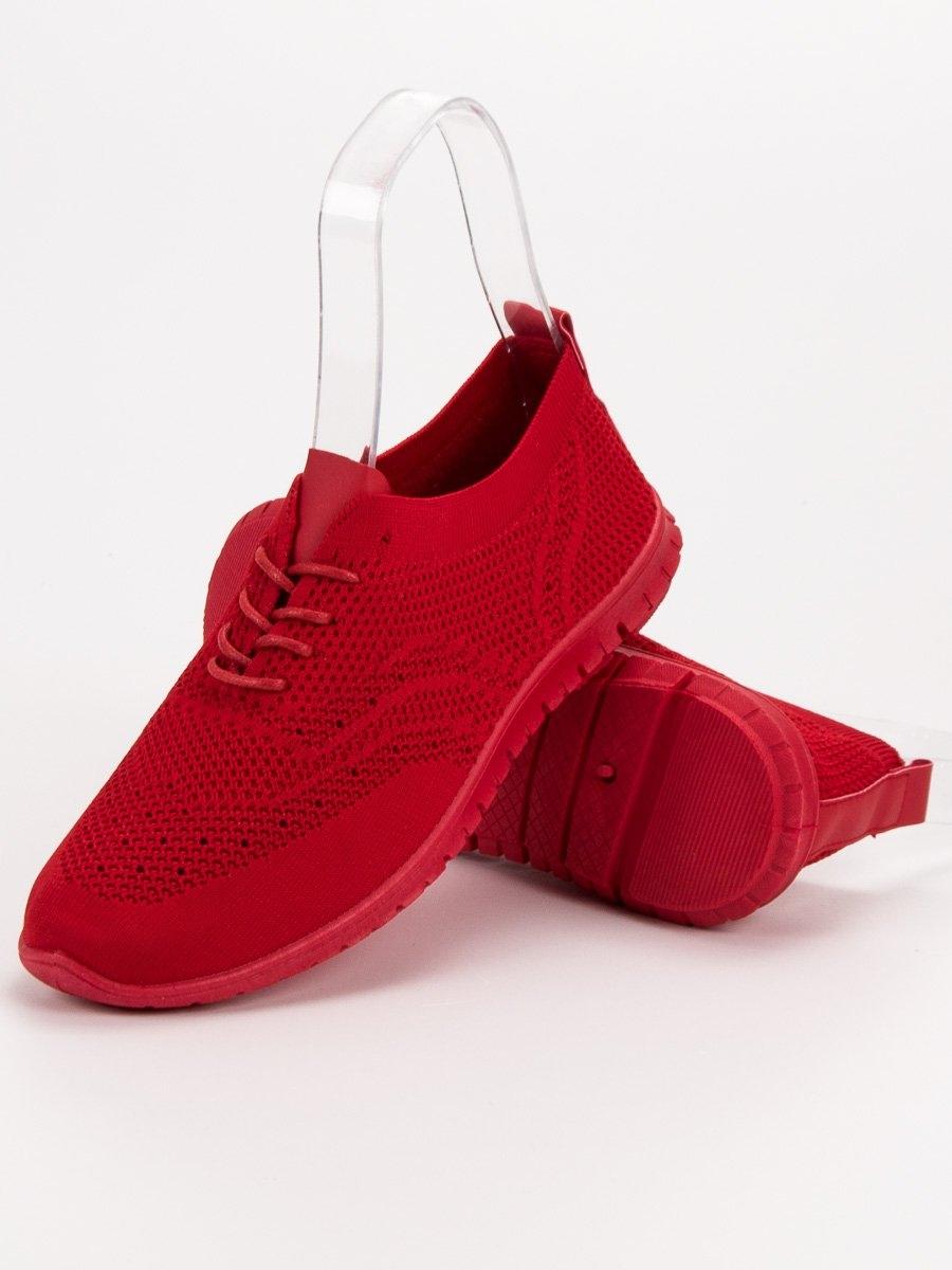 fa62bdc5fb Praktické červené tenisky dámské bez podpatku