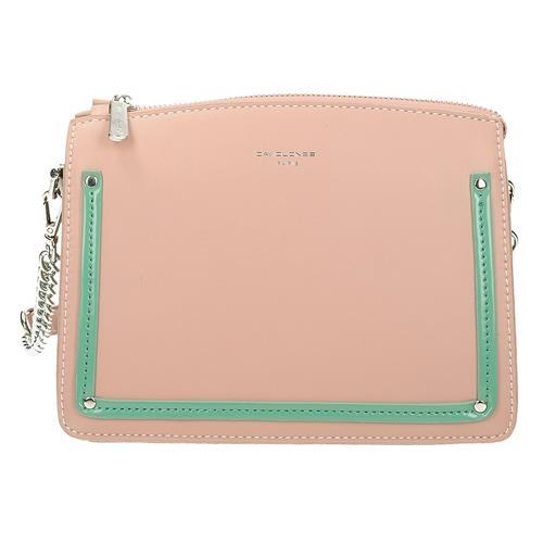 Ružová kabelka přes rameno na zip