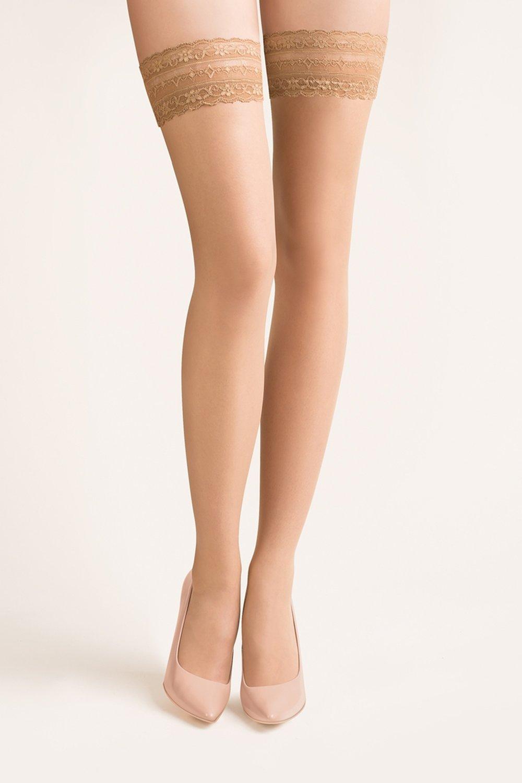 Samodržící punčochy Calze beige