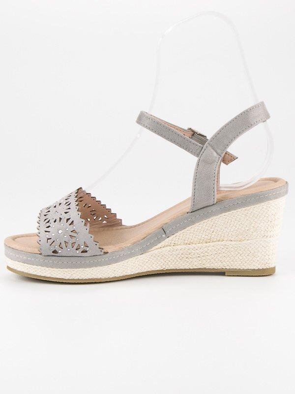 549bc4ce4ad7 ... Šedé sandály-espadrilky na klínku ...