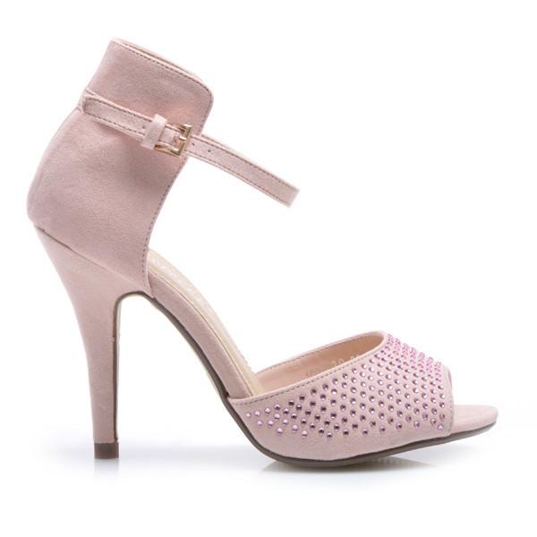 Semišové růžové sandály