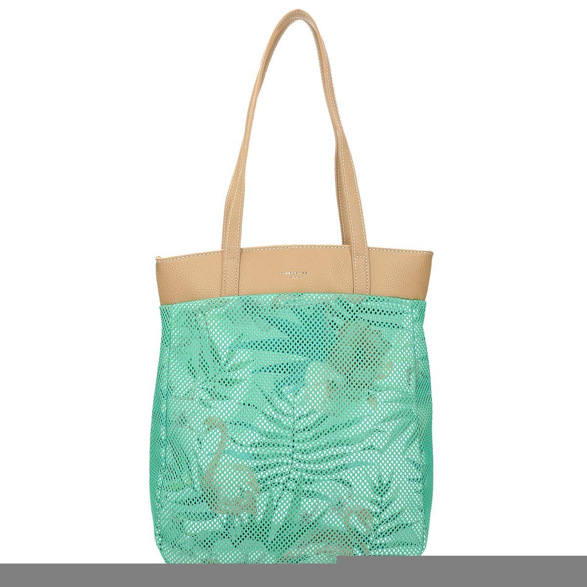 Síťovaná zelená kabelka s květinovým vzorem 1869a304621