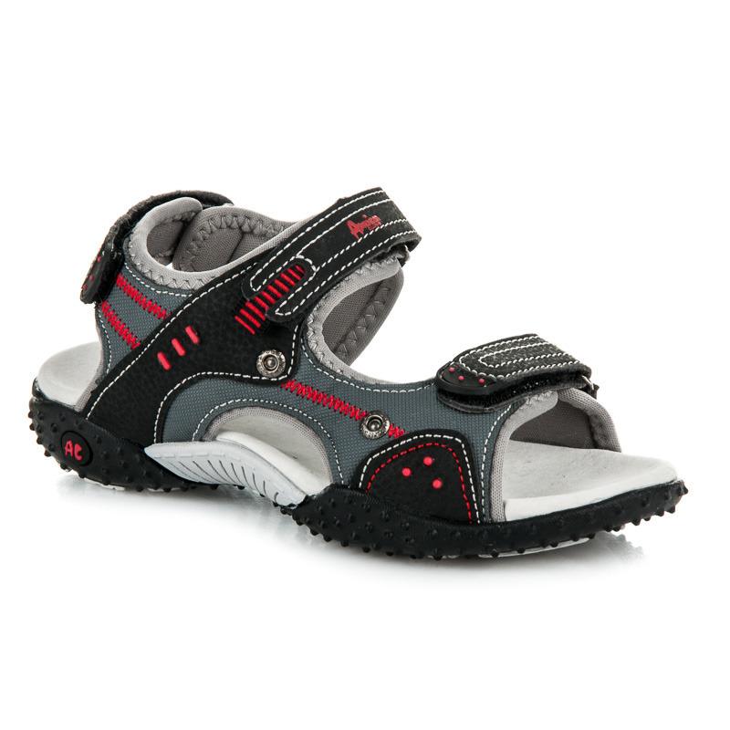 05dd5c0a254 Skvělé dětské letní černé sandály na suchý zip