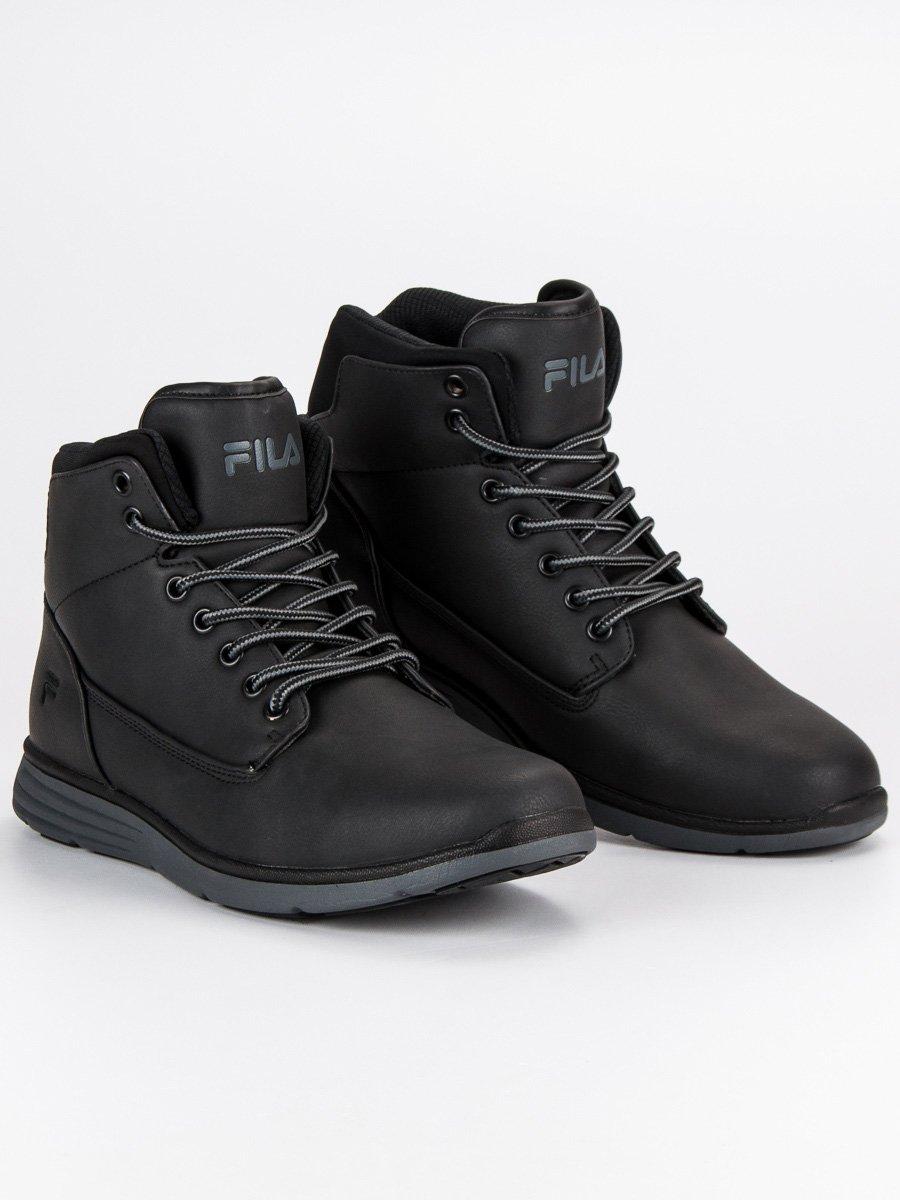Sportovní černé pánské kotníkové boty