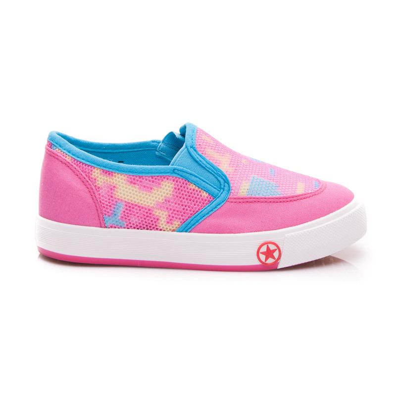 Sportovní dětské boty - růžovo-modré