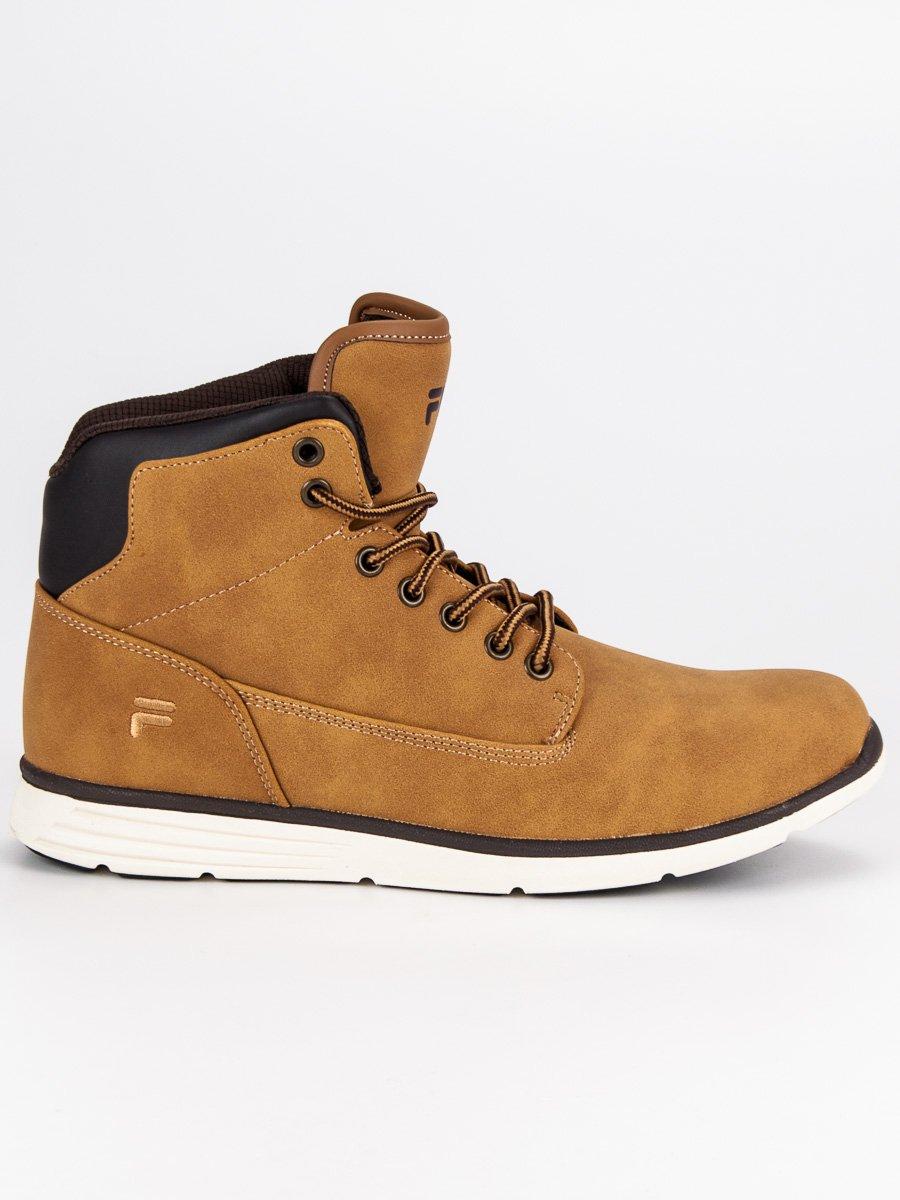 Sportovní hnědé pánské kotníkové boty