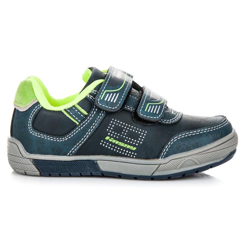 Sportovní modré dětské boty na suchý zip 7b77149fd6
