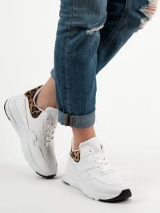 babeeac57429 Trendy bílé dámské tenisky bez podpatku
