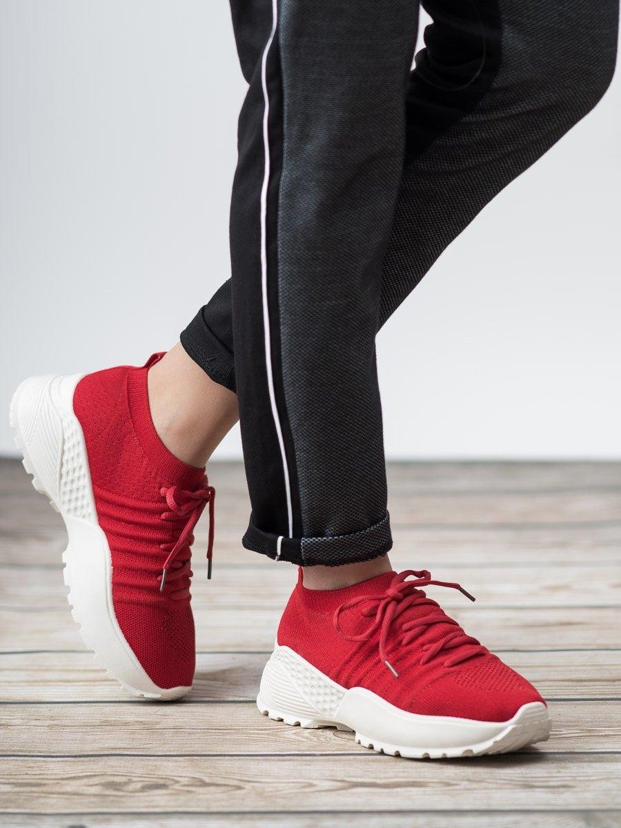 c2ebc43e99 Trendy dámské tenisky červené bez podpatku