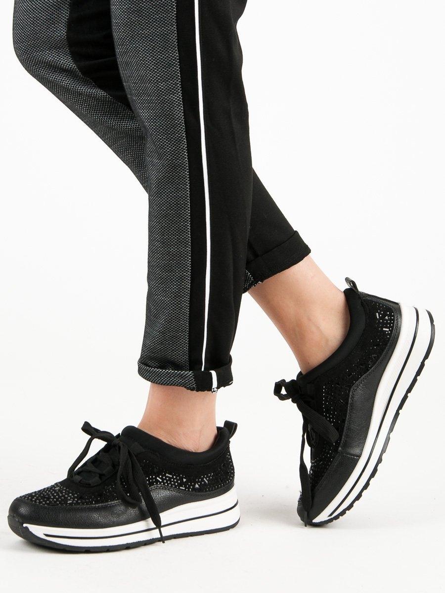 1c97ecca7830 Trendy tenisky dámské černé bez podpatku