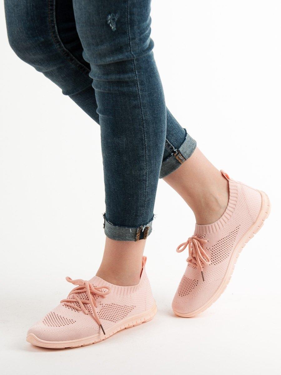 4b59560662 Trendy tenisky růžové dámské bez podpatku