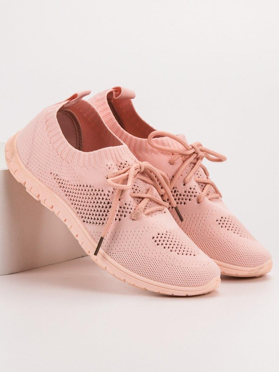 495c459363a2 Trendy tenisky růžové dámské bez podpatku