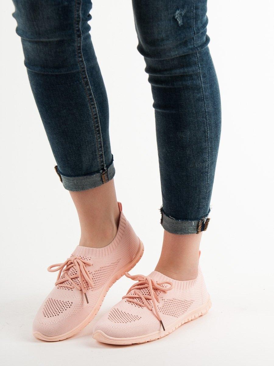 50d382271595 ... Trendy tenisky růžové dámské bez podpatku ...