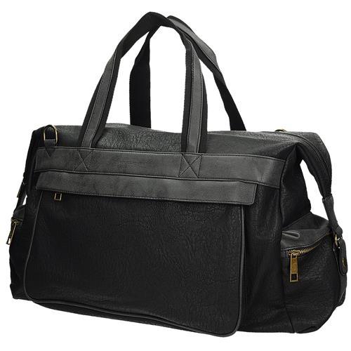 5873402af1bfe Velká černá cestovní taška s opaskem