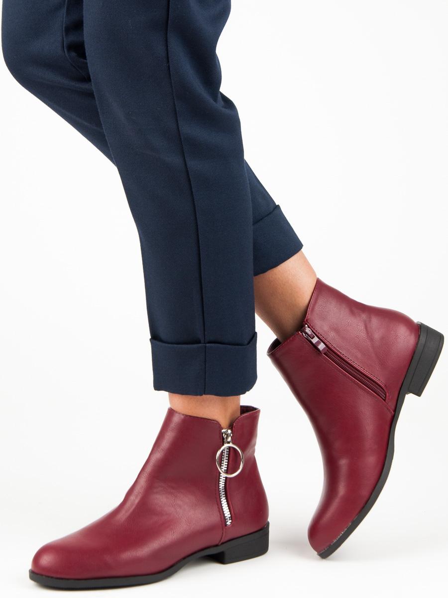 4531995fda5 Nadherne vinove kotnikove boty na podpatku levně